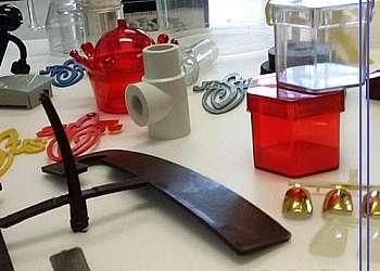 Injeção de peças plásticas